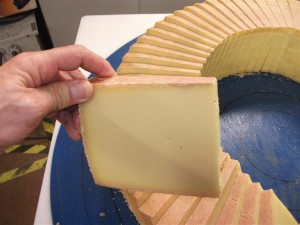 Cheese 400 grams portions from 40 kg wheels